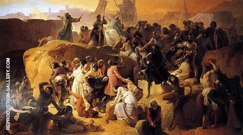 Thirsting near Jerusalem Painting By Francesco Hayez