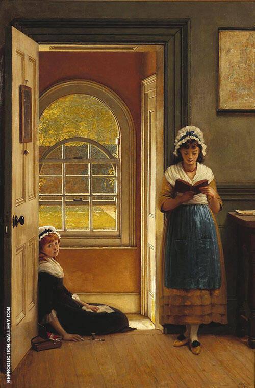 Kept in School 1876 By George Dunlop Leslie