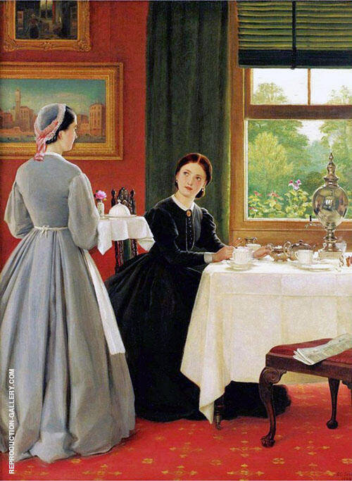 Afternoon Tea 1865 By George Dunlop Leslie