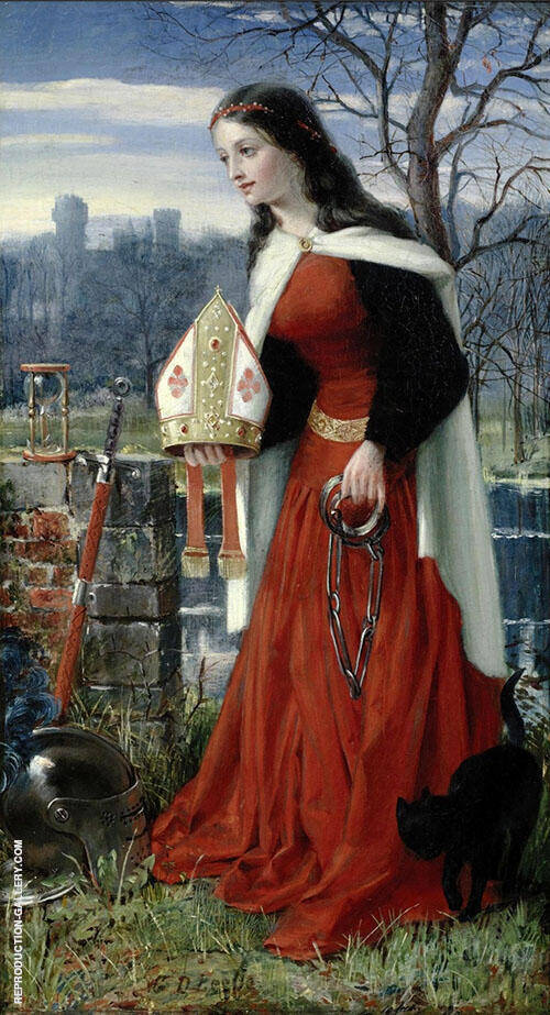 Allegorical Maiden By George Dunlop Leslie