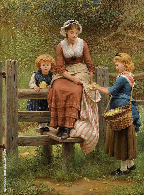 Cowslips 1877 By George Dunlop Leslie