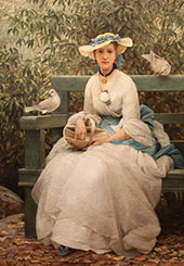 Feeding the Doves By George Dunlop Leslie