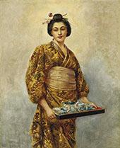 Geisha By George Dunlop Leslie