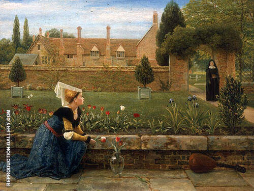 In a Convent Garden By George Dunlop Leslie