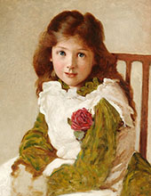 Portrait of the Artist's Daughter By George Dunlop Leslie