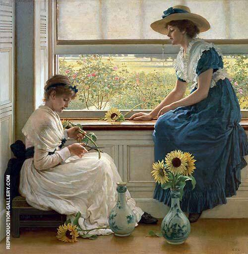 Sun, Moon and Flowers 1890 By George Dunlop Leslie