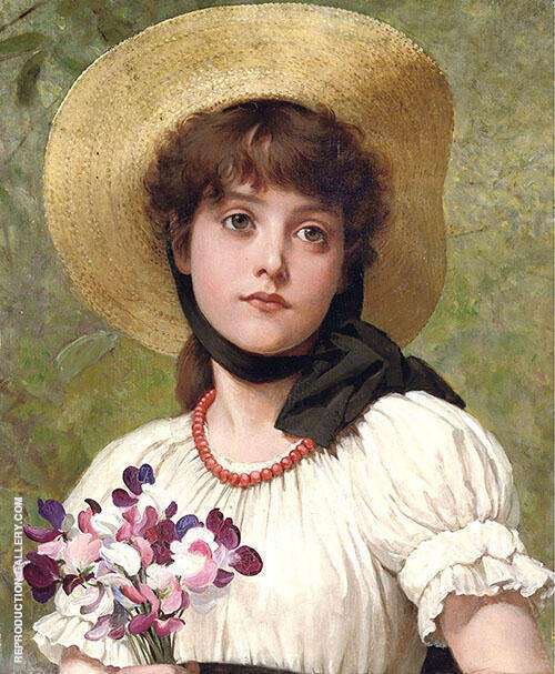 Sweetpeas By George Dunlop Leslie