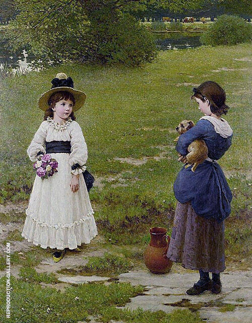 Town and Country Mouse By George Dunlop Leslie