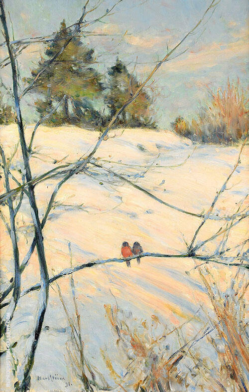 Winter Scene from Skansen 1891 Painting By Karl Nordstrom