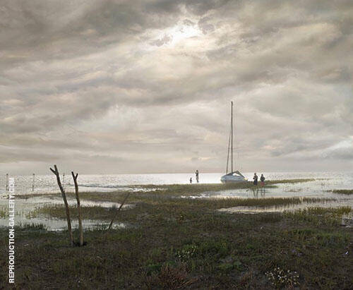 Flat Country Shank at Bay of Greifswald c1830 By Caspar David Friedrich