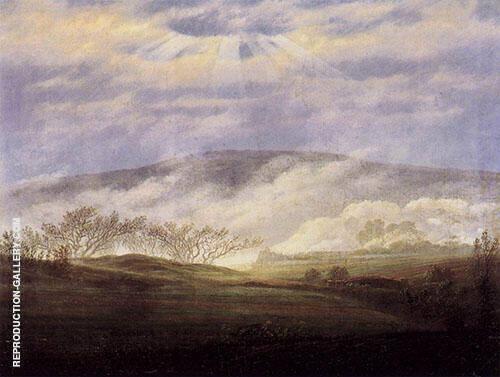 Fog in The Elbe Valley 1821 Painting By Caspar David Friedrich