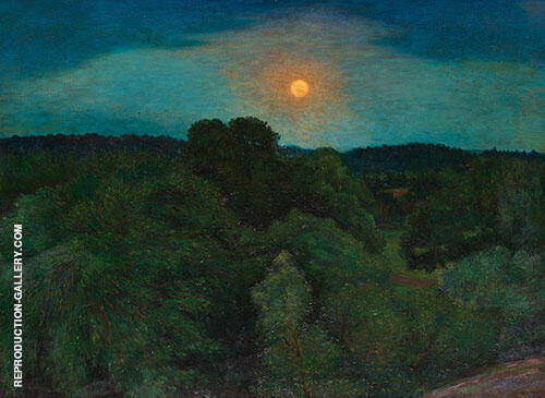 Bellevue Park by Moonlight By Karl Nordstrom