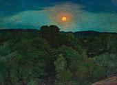 Bellevue Park by Moonlight By Karl Nordstrom