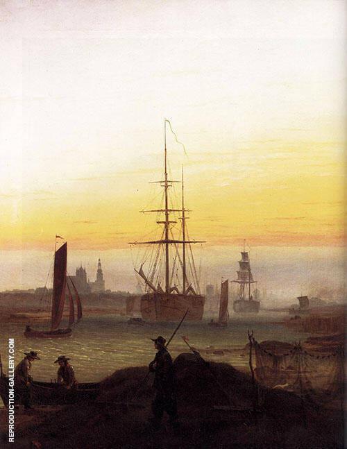 Greifswalder Hafen 1818 By Caspar David Friedrich