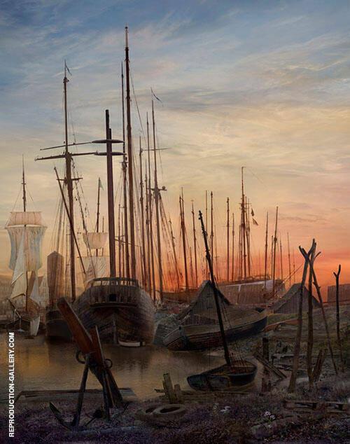 Greifswalder Hafen II 1820 By Caspar David Friedrich