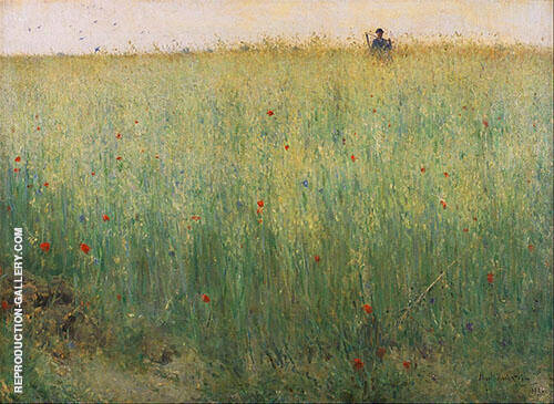 Field of Oats at Grez Painting By Karl Nordstrom - Reproduction Gallery