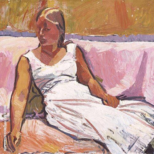 Girl Sitting 1915 By Cuno Amiet