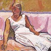Girl Sitting 1915 By Cuno Amiet