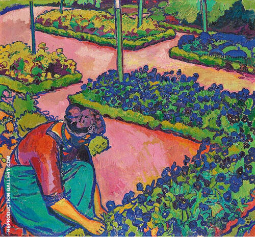 Anna Amiet in the Garden 1912 By Cuno Amiet
