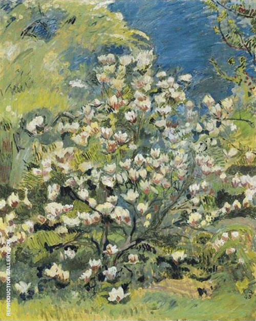 Magnolia 1945 Painting By Cuno Amiet - Reproduction Gallery