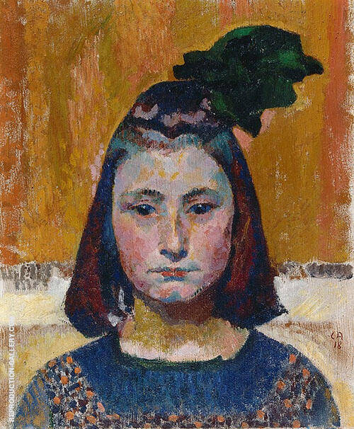 Mineli 1918 Painting By Cuno Amiet - Reproduction Gallery