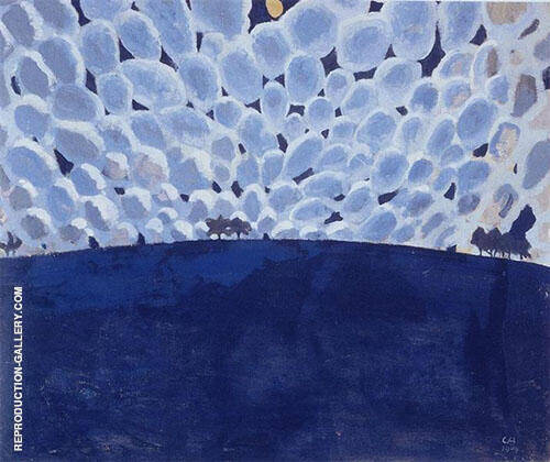 Moonlit Landscape 1904 Painting By Cuno Amiet - Reproduction Gallery