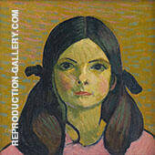 Portrait of a Girl 1907 Painting By Cuno Amiet - Reproduction Gallery
