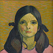 Portrait of a Girl 1907 By Cuno Amiet