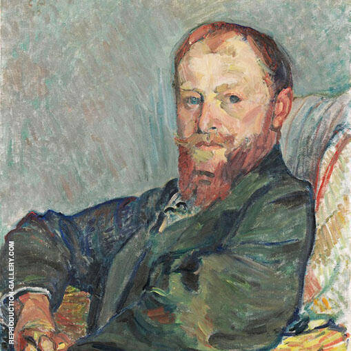Portrait of Giovanni Giacomettti 1910 By Cuno Amiet