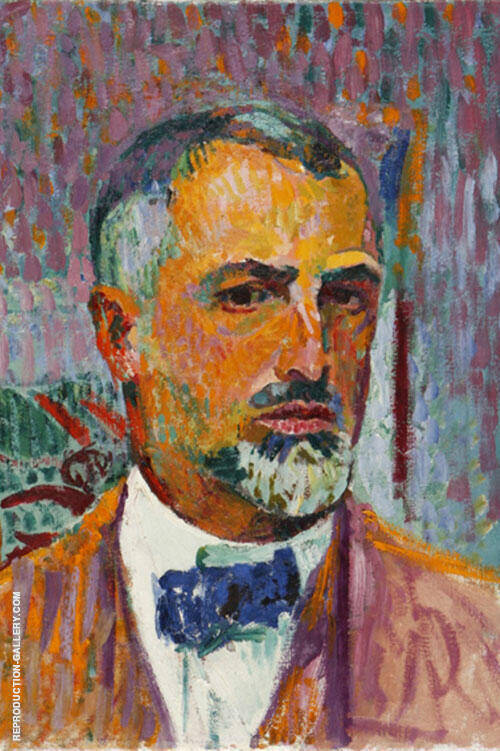 Self-Portrait 1920 By Cuno Amiet