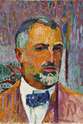 Self-Portrait 1920 By Cuno Amiet