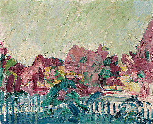 Spring Landscape 1919 Painting By Cuno Amiet - Reproduction Gallery
