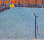 Sunset 1950 By Cuno Amiet