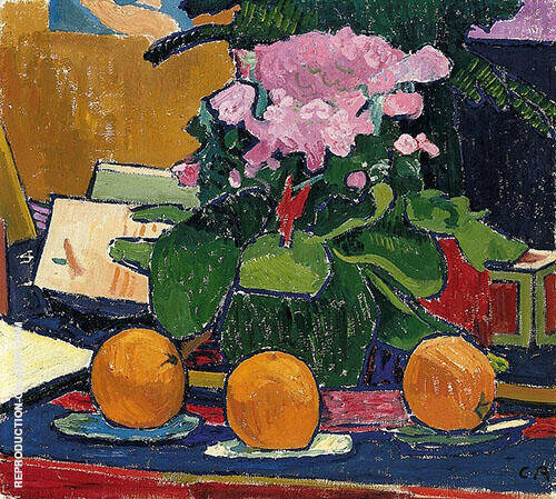 Still Life with Oranges 1907 By Cuno Amiet