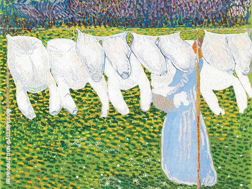 The Laundry Painting By Cuno Amiet - Reproduction Gallery