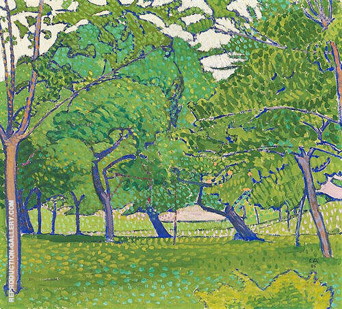The Orchard 1906 By Cuno Amiet