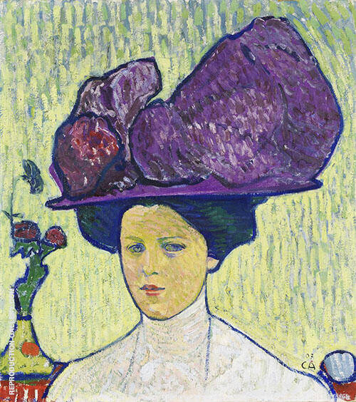 The Purple Hat 1907 By Cuno Amiet