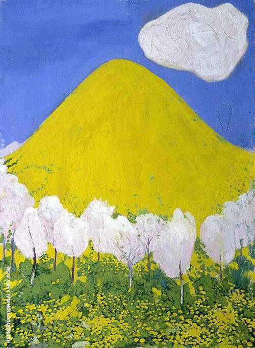 The Yellow Hill 1903 By Cuno Amiet