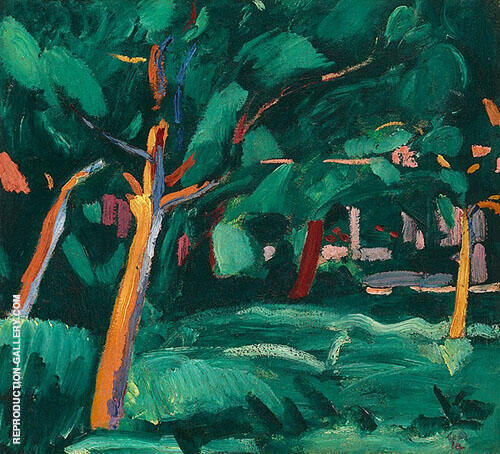 Under Trees 1914 By Cuno Amiet