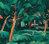 Under Trees 1914 By Cuno Amiet
