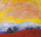 Winter Landscape Red 1928 By Cuno Amiet