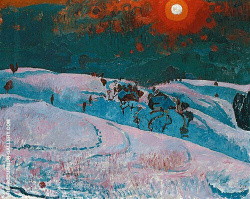 Wintersonne 1927 By Cuno Amiet