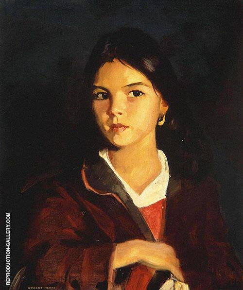 Bernadita 1922 By Robert Henri
