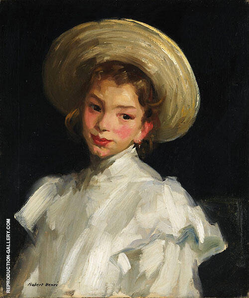Dutch Girl in White Painting By Robert Henri - Reproduction Gallery