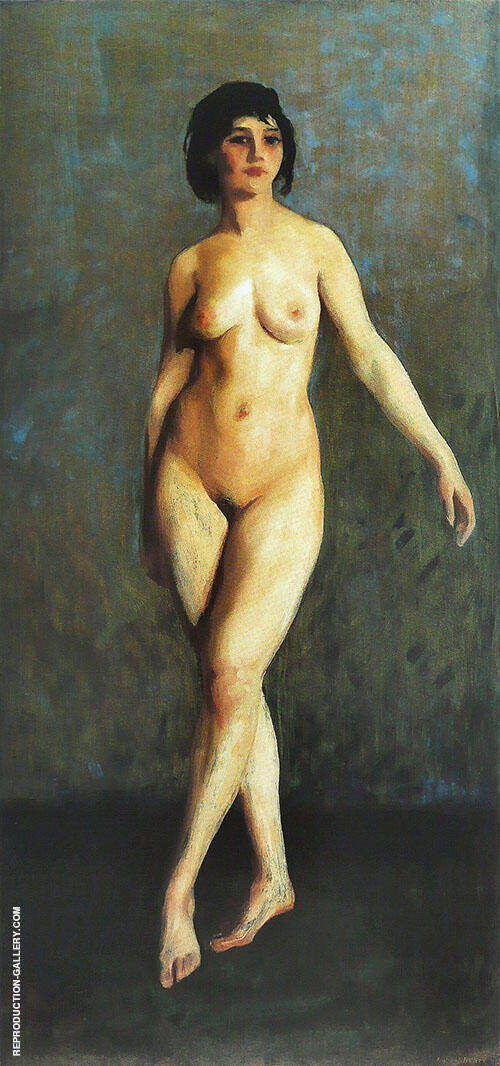 Figure in Motion 1913 Painting By Robert Henri - Reproduction Gallery