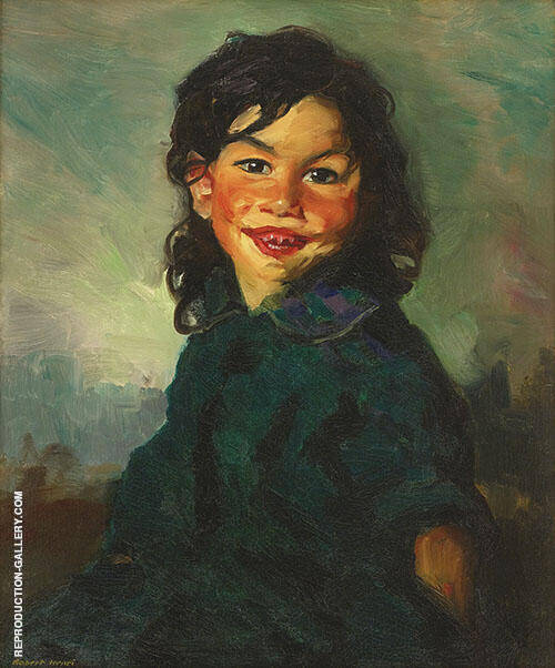 Laughing Gipsy Girl 1913 By Robert Henri