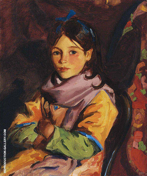 Mary Agnes 1924 Painting By Robert Henri - Reproduction Gallery