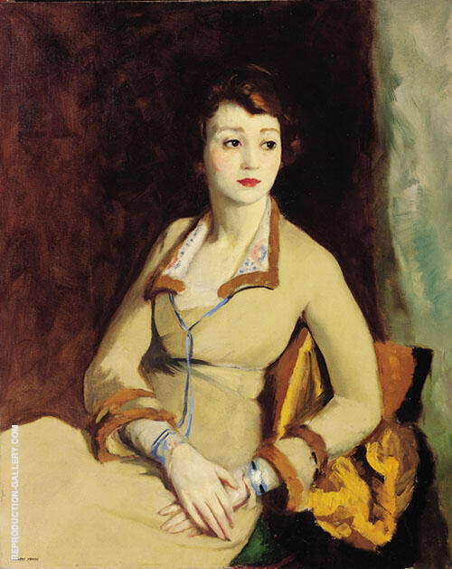 Portrait of Fay Bainter 1918 Painting By Robert Henri