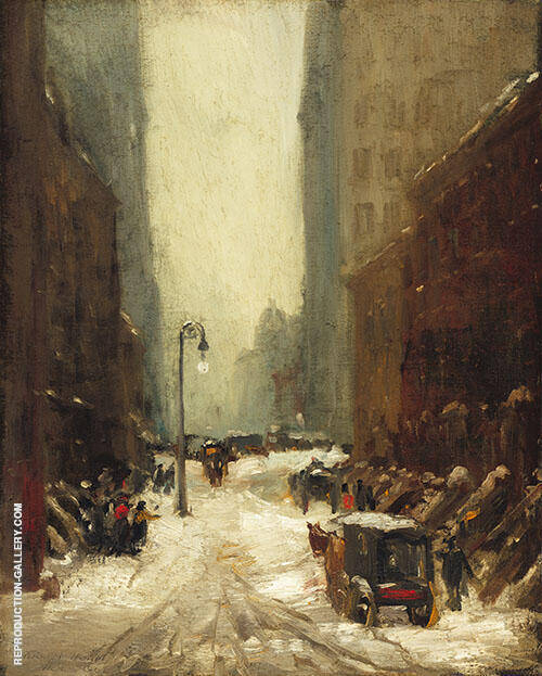 Snow in New York 1902 Painting By Robert Henri - Reproduction Gallery