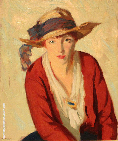 The Beach Hat By Robert Henri